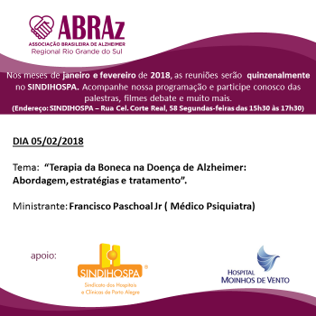 Palestra aborda terapia da boneca para pacientes com Alzheimer