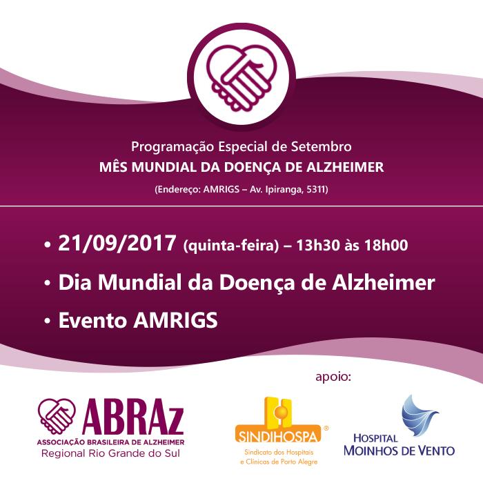 Evento em Porto Alegre marca o Dia Mundial da Doença de Alzheimer