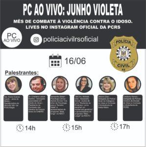 Polícia Civil fará debate online sobre violência contra o idoso